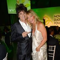 Ronnie Wood and Goldie Hawn