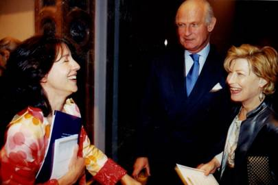 The Hon Mrs Danilovich, Count James de Vielcastel and Mrs Forbes Singer