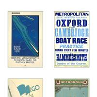 Posters from the London Transport Museum