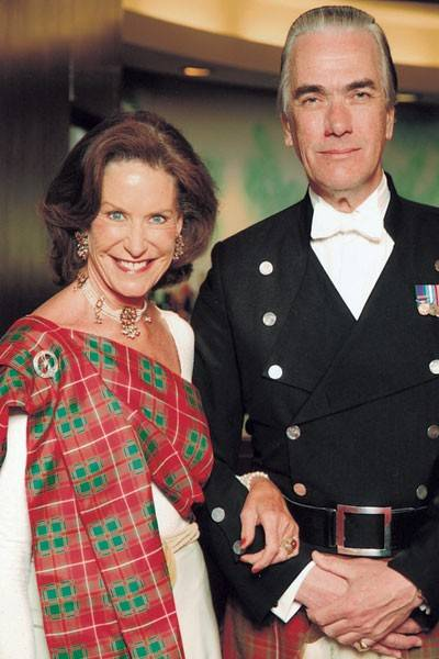 Mrs Jan Ylvisaker and Angus Hay