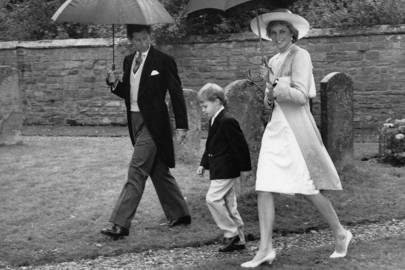 The Prince of Wales, Prince William and The Princess of Wales