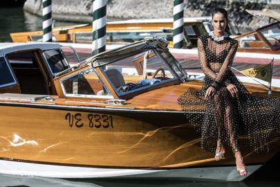 Izabel Goulart arriving at Venice Film Festival