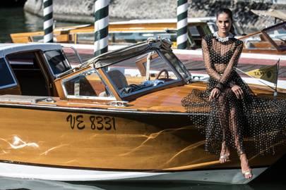 Izabel Goulart arriving at Venice Film Festival