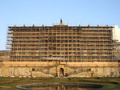 The scaffolding at Chatsworth