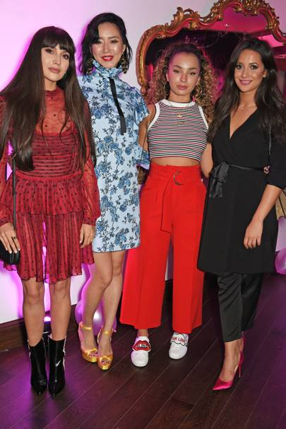 Zara Martin, Betty Bachz, Ella Eyre and Roxie Nafousi