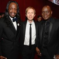 Verdine White, Beck Hansen and Philip Bailey