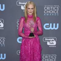 Wearing Valentino at the Critic's Choice awards