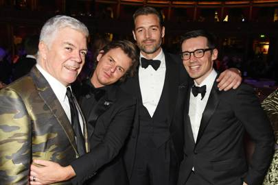 Tim Blanks, Christopher Kane, Patrick Grant and Erdem Moralioglu