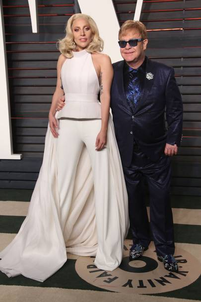 Lady Gaga and Sir Elton John