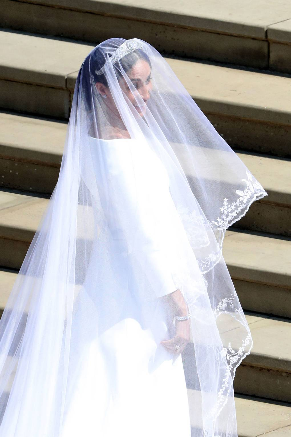 Meghan Markles classically flawless Givenchy dress in detail