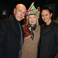 Dylan Jones, Dame Vivienne Westwood and Caroline Rush