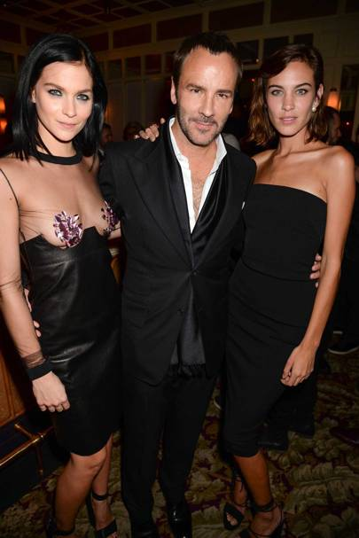 Leigh Lezark, Tom Ford and Alexa Chung