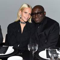 Poppy Delevingne and Edward Enninful