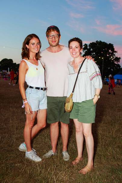 Cressida Bonas, James Norton and Olivia Colman