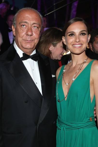 Fawaz Gruosi and Natalie Portman