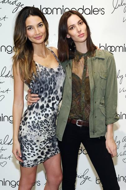 Lily Aldridge and Ruby Aldridge