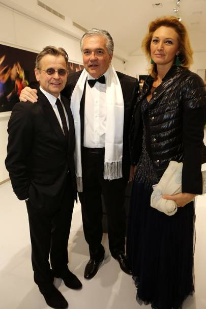Mikhail Baryshnikov, Stefano Contini and Riccarda Contini