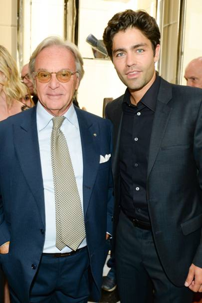 Diego Della Valle and Adrian Grenier