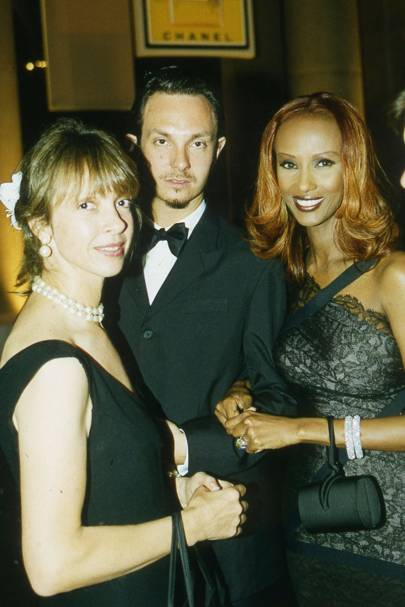 Sabrina Guinness, Joshua Wood and Mrs David Bowie