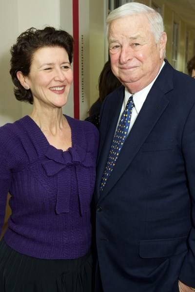 Melanie Clore and US Ambassador Louis B Susman