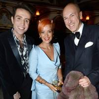 Nick Grimshaw, Lily Allen and Dylan Jones