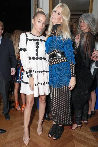 Jasmine Sanders and Claudia Schiffer