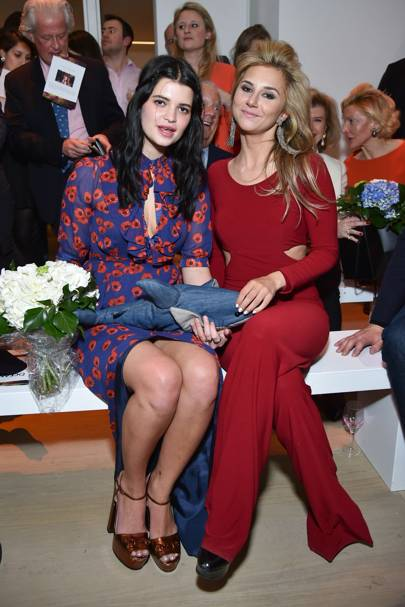 Pixie Geldof and Stephanie Bilet