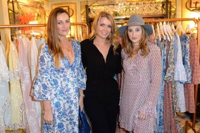 Fran Newman-Young, Lady Kitty Spencer and Rosie Fortescue