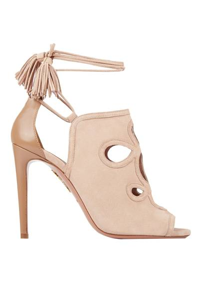 Suede heels, £465, by Aquazzura