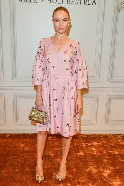 Kate Bosworth at the Holt Renfrew x Vogue pop up.