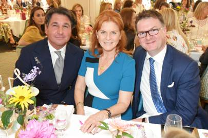Giorgio Veroni, Sarah, Duchess of York and Ewan Venters