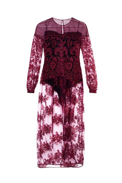 Lace dress, £1,195, by Burberry