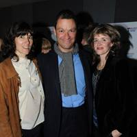 Bella Freud, Dominic West and Catherine Fitzgerald