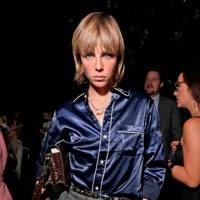 Edie Campbell at the Moncler Genius show