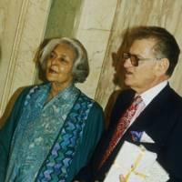 The Rajmata of Jaipur and Alecko Papamarkou