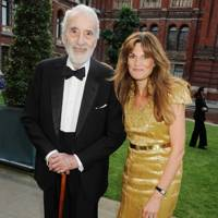 Sir Christopher Lee and Jemima Khan