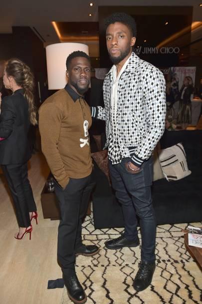 Kevin Hart and Chadwick Boseman