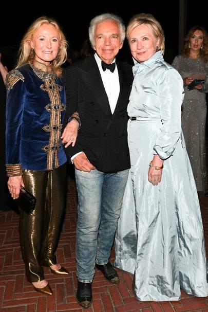 Ricky Lauren, Ralph Lauren and Hilary Clinton
