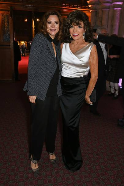 Anna Friel and Joan Collins