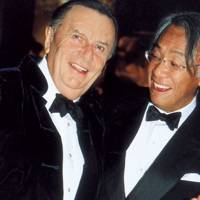 Barry Humphries and David Tang
