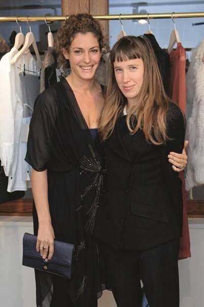 Ginevra Elkann and Lady Frances von Hofmannsthal
