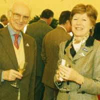 Sir Peter O'Sullevan and Mrs Andrew Parker Bowles