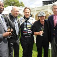 Edwin Moses, Ron Dennis, Earl of March and Kinrara, Brian Johnson and Arnaud Bamberger