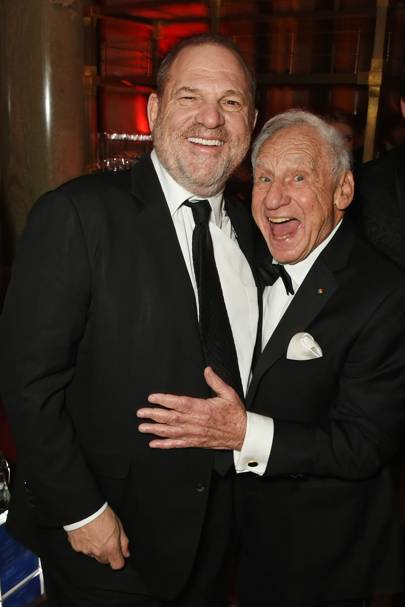 Harvey Weinstein and Mel Brooks