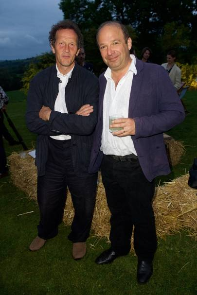 Monty Don and Justin Albert