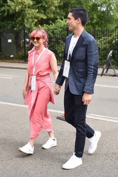 Maisie Williams and Reuben Selby