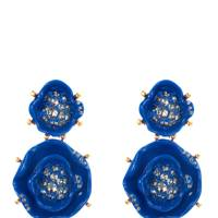 Resin earrings, £250, by Oscar de la Renta