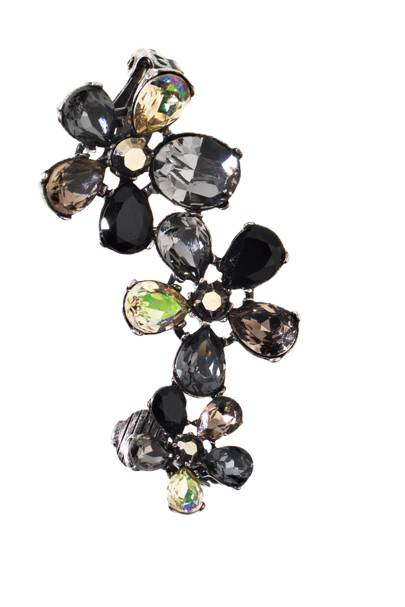 Swarovski-crystal ear cuffs, £336, by Vickisarge