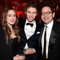Hannah Bagshawe, Eddie Redmayne and Michael Barker