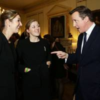 Charlotte Edwards, Heather Knight and David Cameron